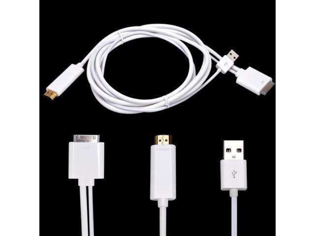 Dock to HDMI TV Cable with USB Charger For iPhone 4 4S iPad 1 2 3 iPod 4th