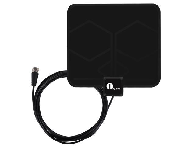 1Byone Thin Indoor HDTV Antenna - 25 Miles Range, 10-Foot Coaxial Cable