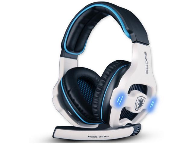 IMAGE®SA903 Sades White Limited Edition 7.1 channel professional gaming headset usb computer headphone with mic deep bass earphone black