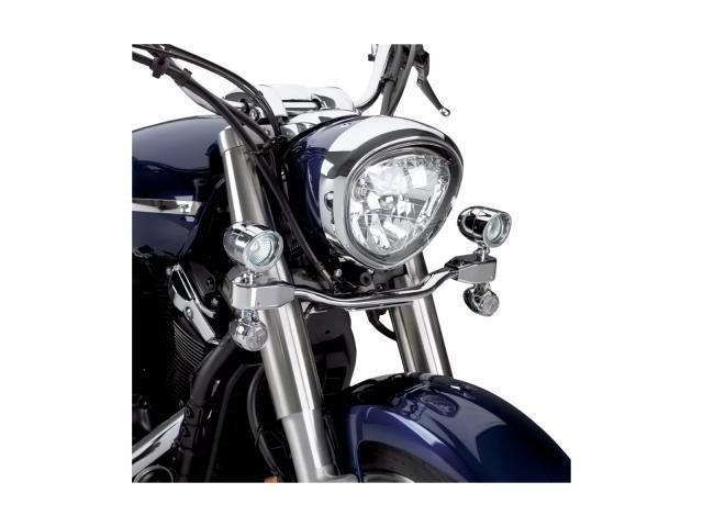 Show Chrome Elliptical Driving Light Kit - 3 1/2in. Diameter Street 53-132 53-132