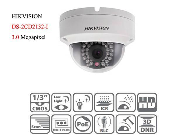 HIKVISION DS-2CD2132-I 3.0MP POE 2.8mm 1080P POE Outdoor Dome Network IP Camera