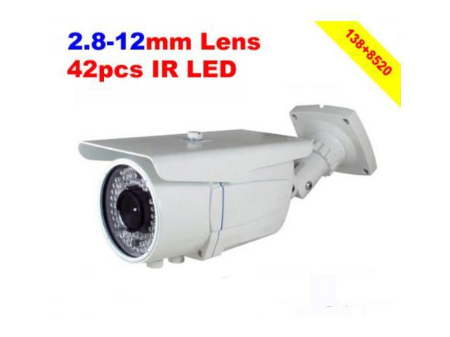 Viigoo Latest 1200TVL CMOS Sensor 138+8520 OSD Menu IR CUT 2.8-12MM Lens 42LED Waterproof IR Outdoor CCTV Camera