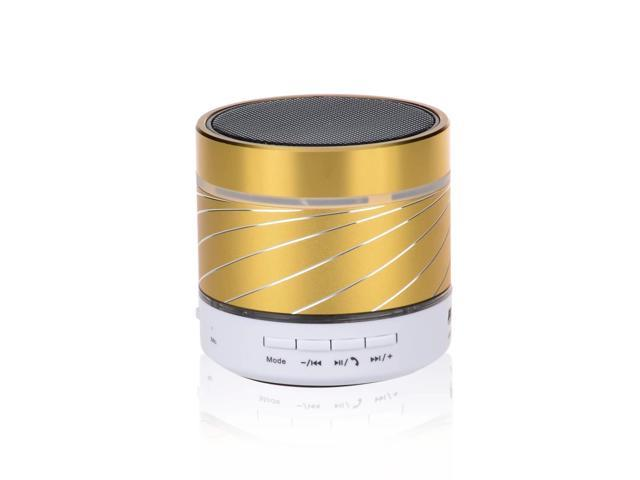 Viigoo(TM) LED Flash Light Mini Travel Potable Hands-free Bluetooth Speaker with 3.5mm Jack for Phone/Laptop/Tablet PC, Gold