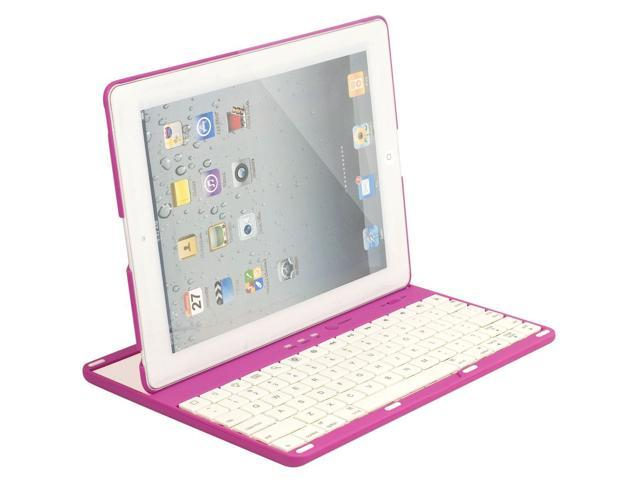 Viigoo(TM) (Multicolor Choose) Detachable Bluetooth Keyboard, 360 Degrees Rotating Case Cover for iPad 2 2nd 3 3rd 4 4th Generation (PINK)
