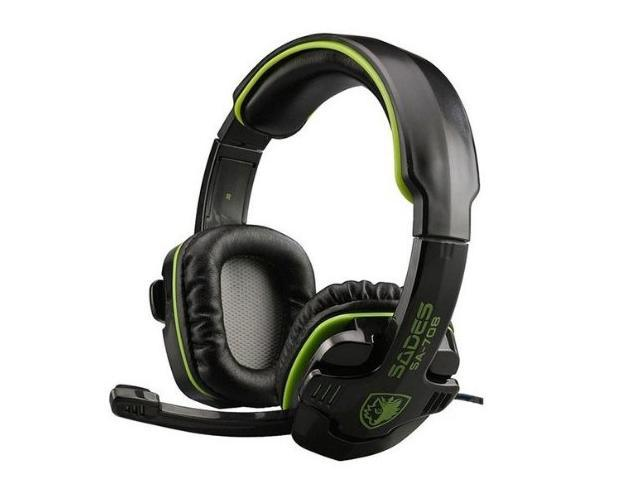 Click to open expanded view Stereo Headset Headband SA-708 Game Earphone Bass Headphones with Microphone (Green)