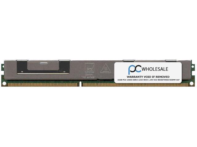 IBM 32GB PC3-10600 DDR3-1333 4Rx4 1.35v ECC Registered RDIMM VLP (IBM PN# 00D5008)