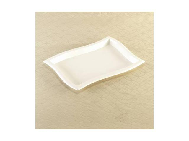 10 x 14 Inch Rectangle Wave Black Trays 25 CT