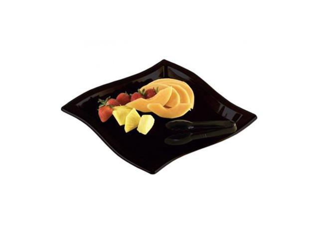 12 x 12 Inch Square Wave Black Trays 25 CT