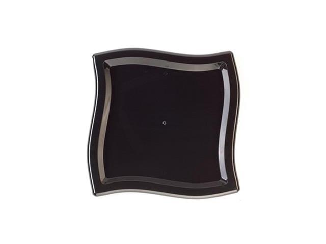 Black 14 x 14 Inch Square Wave Trays 25 CT