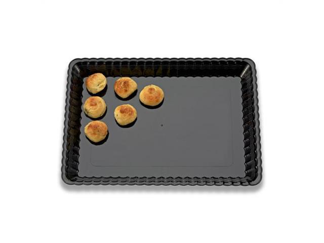 Black Resposable 9 x 13 Serving Plastic Trays 45 CT