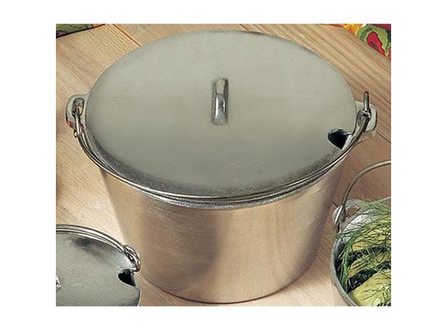 3 qt 9 dia. x 5 1/2 H inch Soup Kettle with Bail Handle Sandstone White 1 Ct