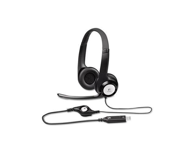 LOG981000014 USB Headset, Padded, Volume/Mute Controls, Black