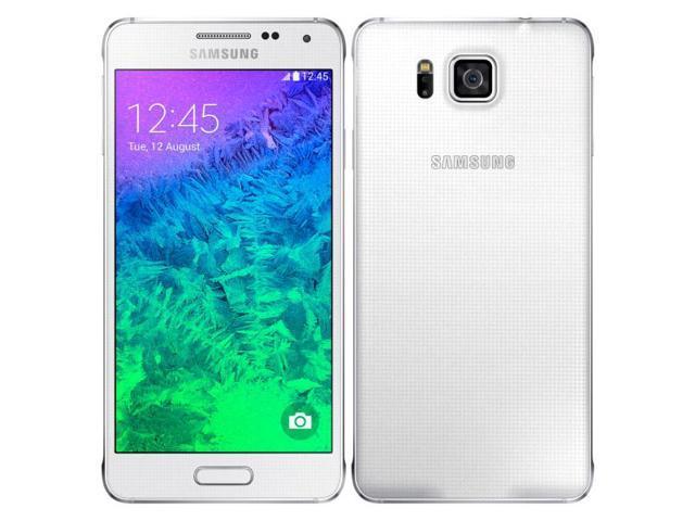 Samsung Galaxy Alpha SM-G850F 4G LTE White 32GB FACTORY UNLOCKED 12MP, 4.7