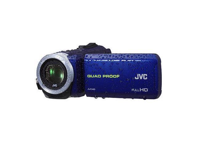 JVC Everio GZ-R10 Quad-Proof Full HD Camcorder, Blue #GZ-R10A
