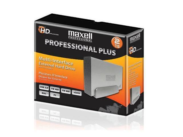 Maxell Professional Plus 2TB Multi-Interface External Hard Drive #665385