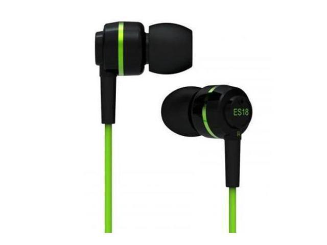 SoundMAGIC ES18 In-Ear Headphones, 15Hz-22KHz Frequency Range, Green #ES18GR