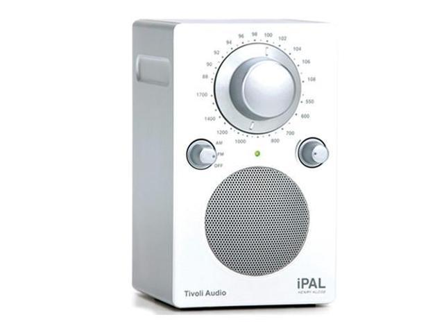 Tivoli Audio iPAL PALIPAL Portable Radio for iPod, High Gloss White/Silver