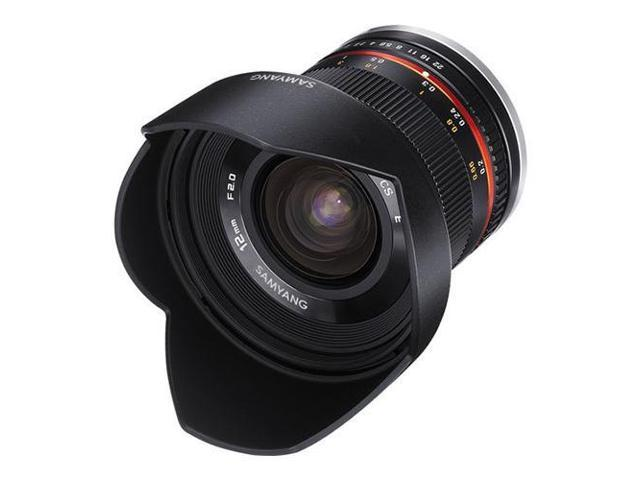 Samyang 12mm F2.0 NCS CS Ultra Wide Angle Lens for Micro 4/3 Cameras, Black