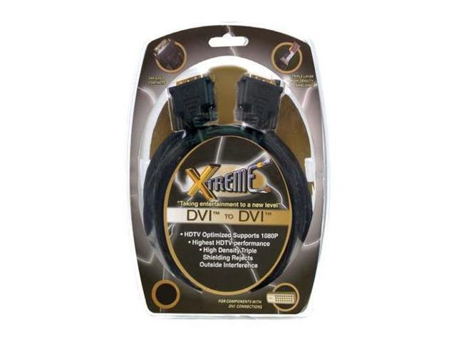 Xtreme Cables 3' DVI to DVI Super High Performance Cable. #73203