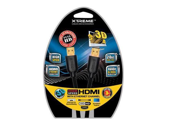 Xtreme Cables 3 Feet High Speed HDMI Cable with Ethernet #74103