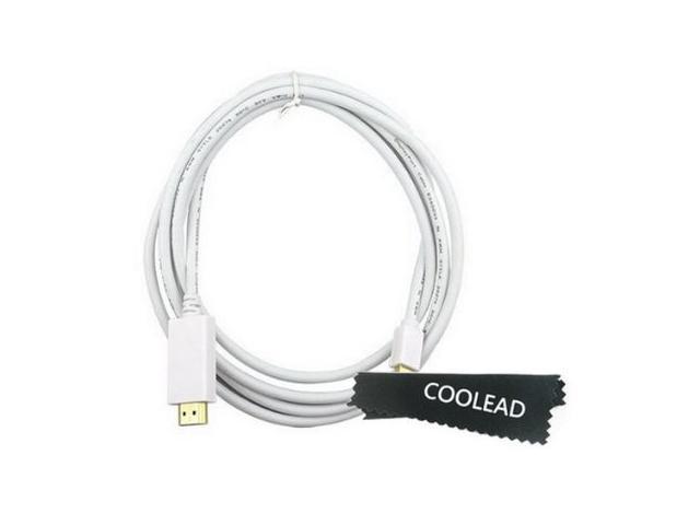 COOLEAD-1.8M 6ft Mini Displayport to HDMI Adapter For Apple Macbook, Macbook Pro, Macbook Air iMac
