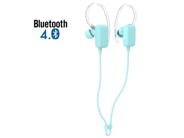 Mini Blue Sports Sweatproof Wireless Stereo Bluetooth 4.0 Headset BT Headphones Earphone Earpiece Earbuds with Microphone Mic, A2DP,for Apple ...
