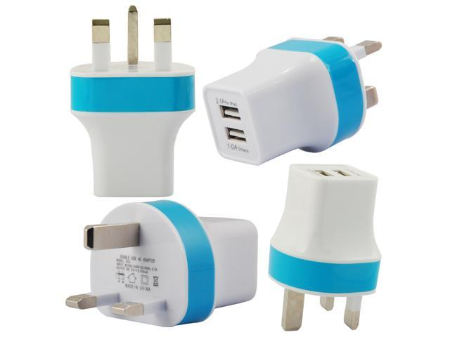 Rapid Fast Charging 2.1A DC 5V UK Plug Dual Usb Port 2 Ports Wall Travel Home Charger Powr Adapter Adaptor Designed For Apple Android Universal ...