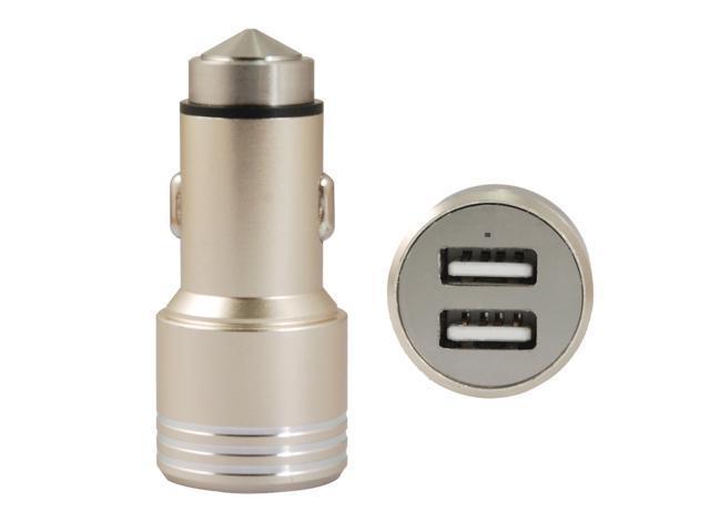 COOLEAD- Quality Dual Port Rapid USB Metal Material Car Charger Bullet Design for Apple iPhone 6/5/5S/5C, iPad, iPad Air, iPad mini,Samsung ...