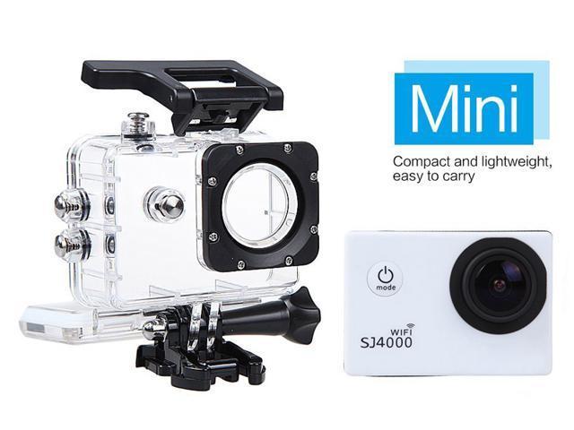 White 12MP WIFI 170 Degree Full HD 1080P SJ4000 Car Cam Sports DV Action Waterproof Camera For Diving Bicycle Bike Skating