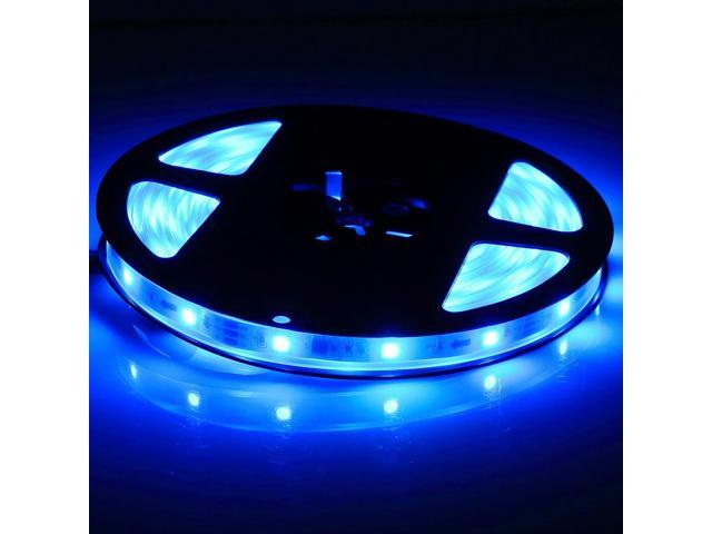Brand New 5 Meters 16.4 Feets 300 LEDs Blue Flexible SMD 3528 LED Strip Light IP65 Waterproof Indoor Outdoor Decoration Lighting (no power supply ...