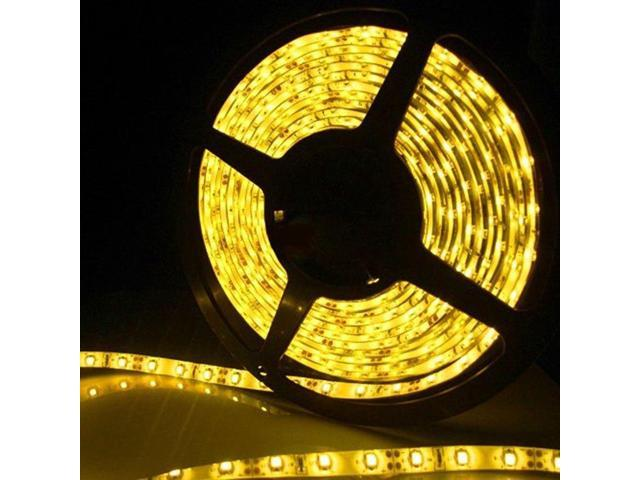 Brand New 5 Meters 16.4 Feets 300 LEDs Yellow Flexible SMD 5050 LED Strip Light IP65 Waterproof Indoor Outdoor Decoration Lighting (no power ...