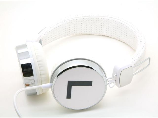White Dj Over the Collapsible Head Earphone Headphones for Apple Ipod, Ipad, Nano, Sony Mp4, I9500 S4 Samsung, Nexus