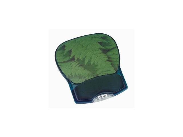 Aidata Deluxe Gel Mouse Pad - Green Leaves