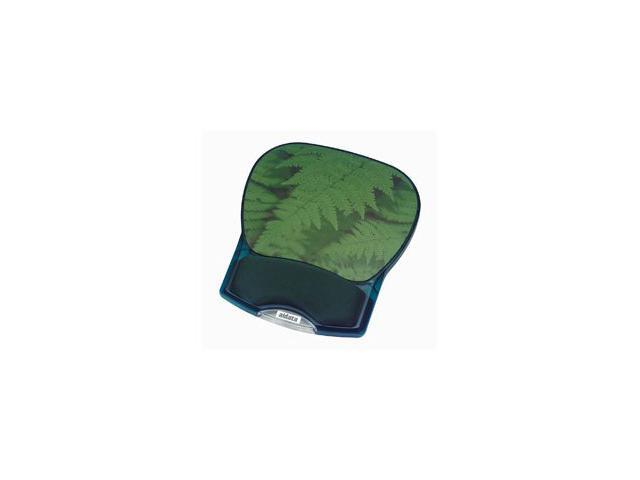 Aidata Deluxe Gel Mouse Pad (Green Leaves)