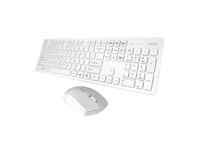 CORN 2.4GHz Wireless Keyboard Mouse, Fashion and Super-thin Design, Comfortable Touch Buttons, Power Saving Function, and Professional Location ...