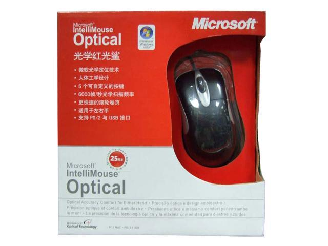Microsoft Black Wired Optical IntelliMouse Optical 1.1
