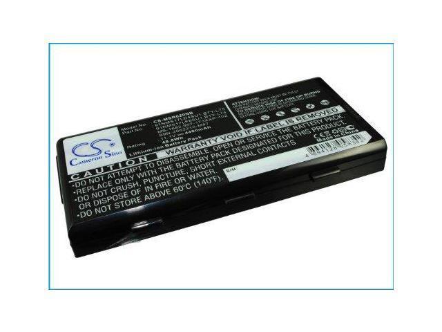 Battery Laptop MSI A5000, MSI A6000, A6005, MSI A6200, A7200, CR500, CR600, CR60, Li-ionx6, 4400 mAh