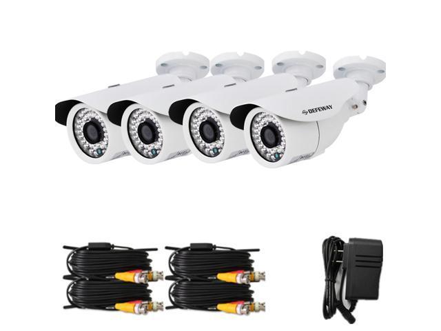 DEFEWAY 4pcs 960P SONY HD/Full HD CMOS High Sensitivity Image Sensors CCTV Camera for Security Camera System