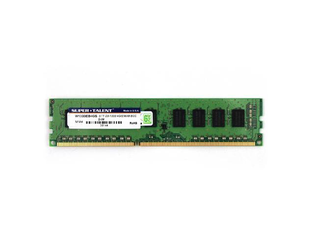Super Talent DDR3-1333 4GB/256x8 ECC CL9 Samsung Chip Memory