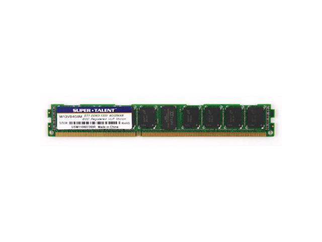 Super Talent DDR3-1333 4GB/256x8 VLP ECC/REG Micron Chip Server Memory