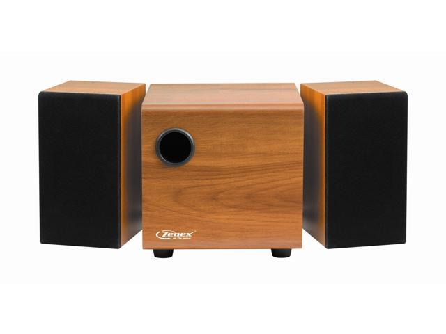3-Piece 2.1 Compact Home Theater Subwoofer & 2 Tower Speakers Brown