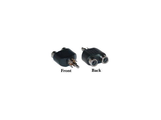 RCA adapter, 2 Female / 1 Male, Nickel Plated