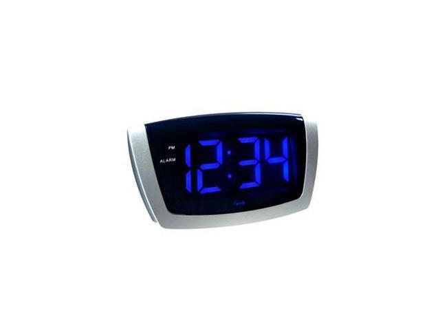 LED Blue Digit USB Alarm Clock