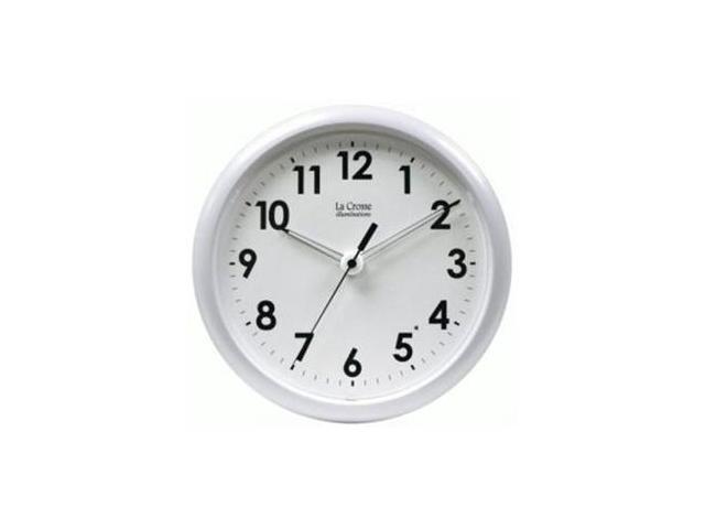 Illuminated 10in Clock-White