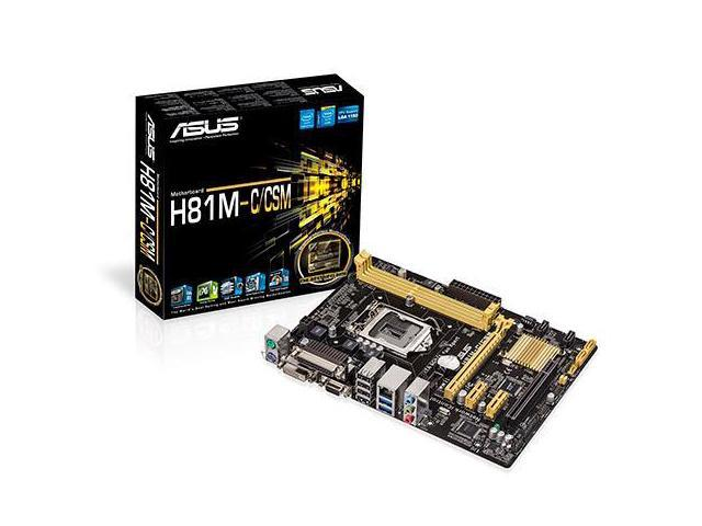 MOTHERBOARD - H81M-C-CSM MICRO-ATX H81 FEATURES NEW UEFI BIOS AND DEDICATED FAN