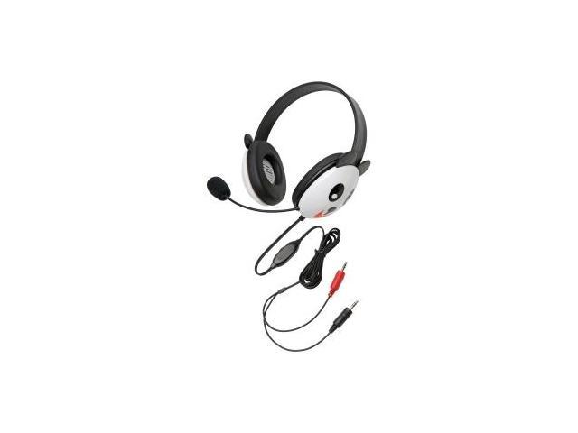 Califone Stereo Headset, Panda w/ Mic Dual 3.5mm Plug Via Ergoguys