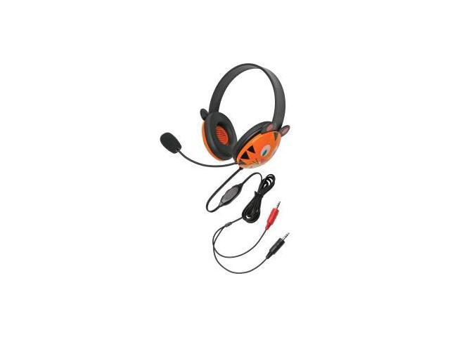 Califone Stereo Headset, Tiger w/ Mic Dual 3.5mm Plug Via Ergoguys