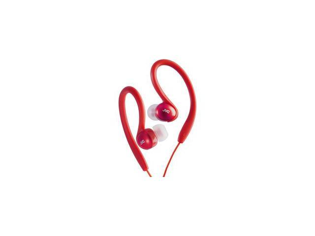 JVC Sport Clip Headphones Red