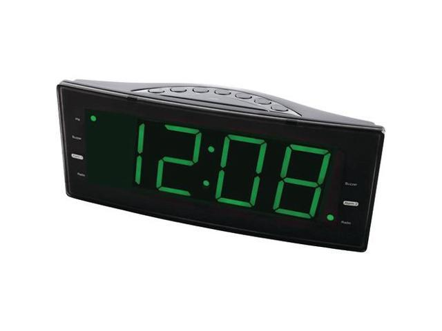 NAXA NRC-166 Easy-Read Dual Alarm Clock with Jumbo Display & USB Charger