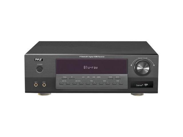 PYLE PT595AUBT Bluetooth(R) 5.1 Channel HDMI Digital Amplifier Receiver, 350W, USB/SD Readers, AM/FM Radio